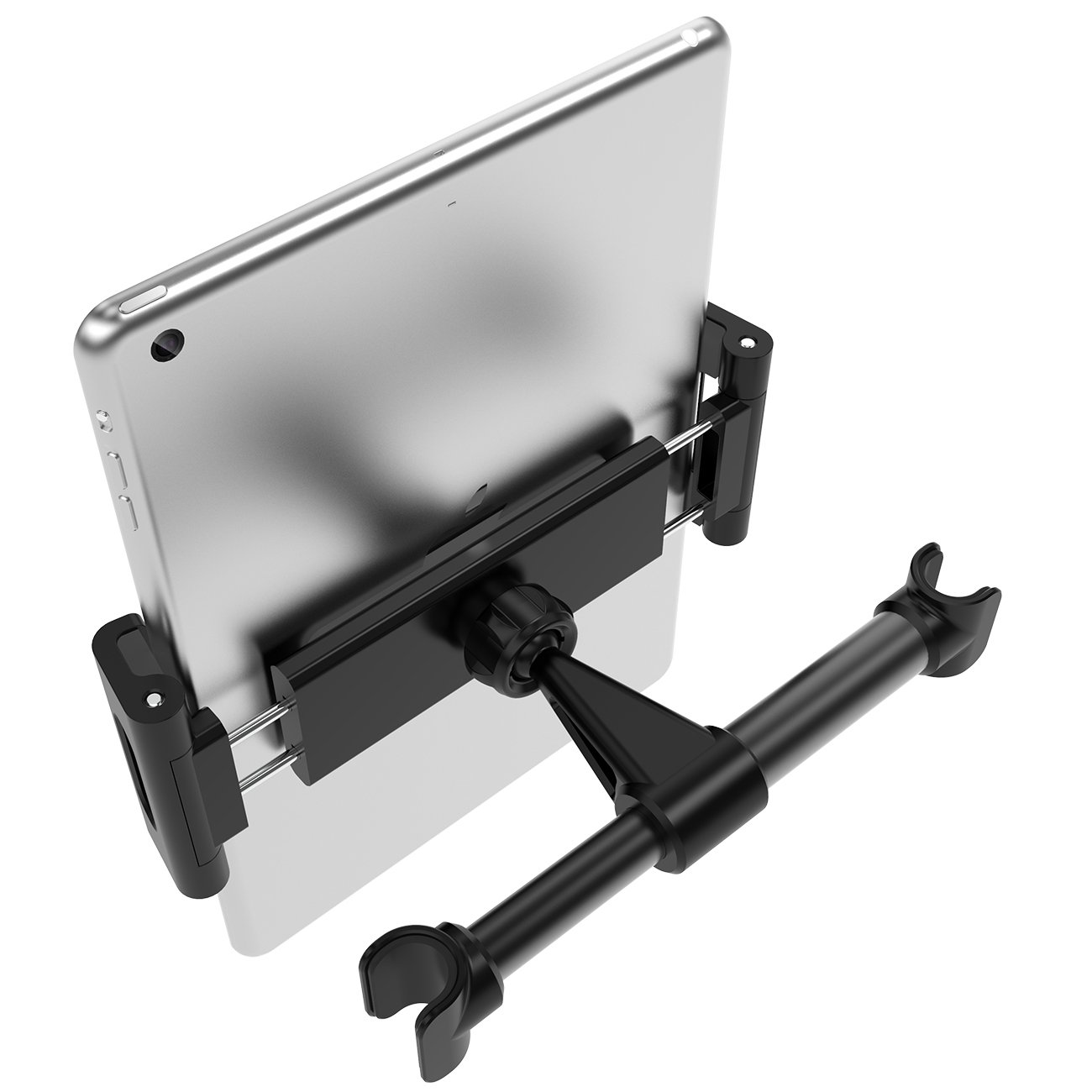 Car Tablet Headrest Mount, Lamicall Tablet Holder : Back seat Stand Cradle Compatible with 4.7~13 inch Like iPad 2017 Pro 9.7, 10.5, 12.9, Air Mini 2 3 4, Accessories, E-Reader, Smartphones - Black by Lamicall (Image #2)