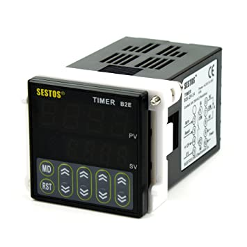 61XP39jtRAL._SY355_ sestos digital twin timer relay time delay relay switch 12 24v b2e,Wiring Twin Timer Relay