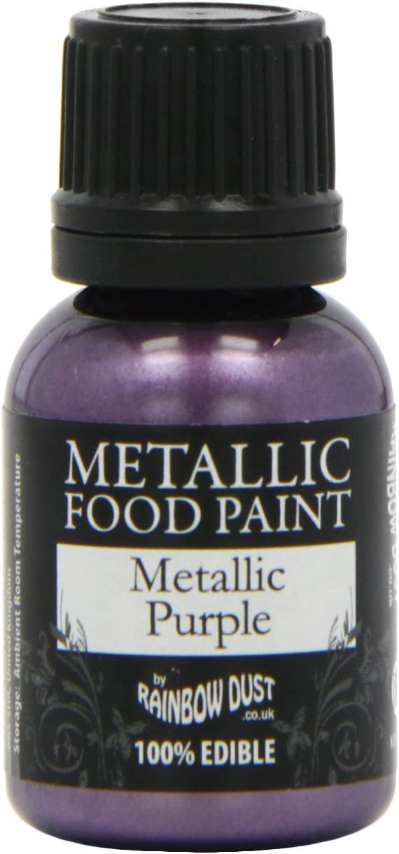1 X Metallic Purple Food Paint