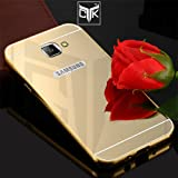 TheGiftKart™ ULTRA Premium Luxury Metal Bumper Acrylic Mirror Back Cover (Golden) for Samsung Galaxy A9 PRO