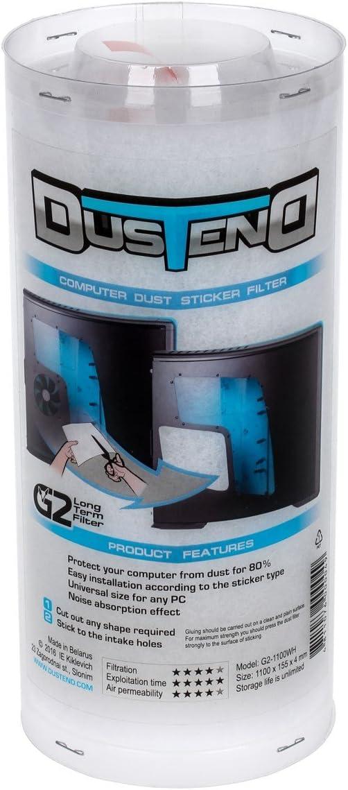 DustEND Long-lasting Computer Dust Filter, Model G2, White