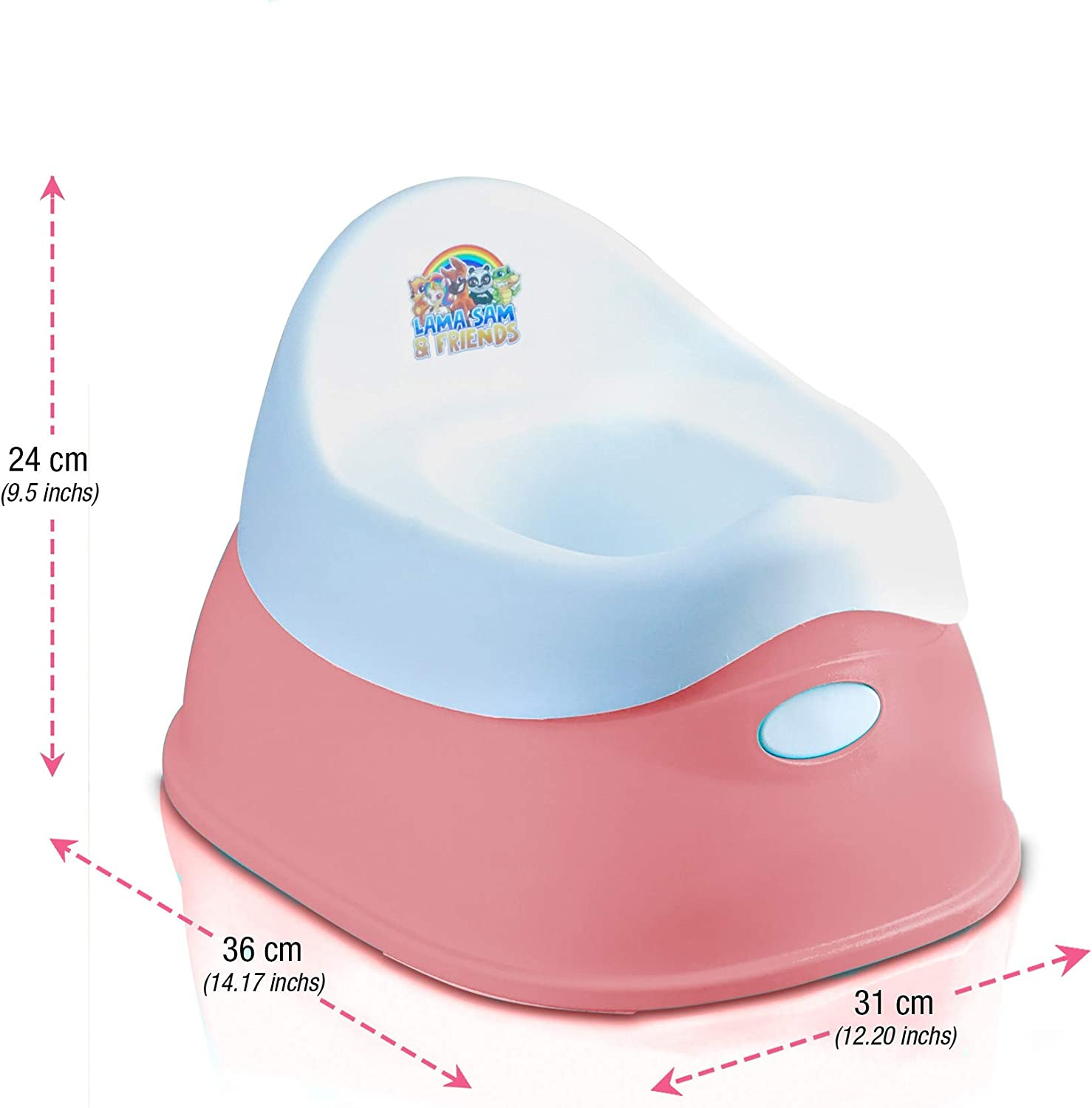 Smart Plastic Potty for Baby and /& Toddler Lama Sam /& Friends