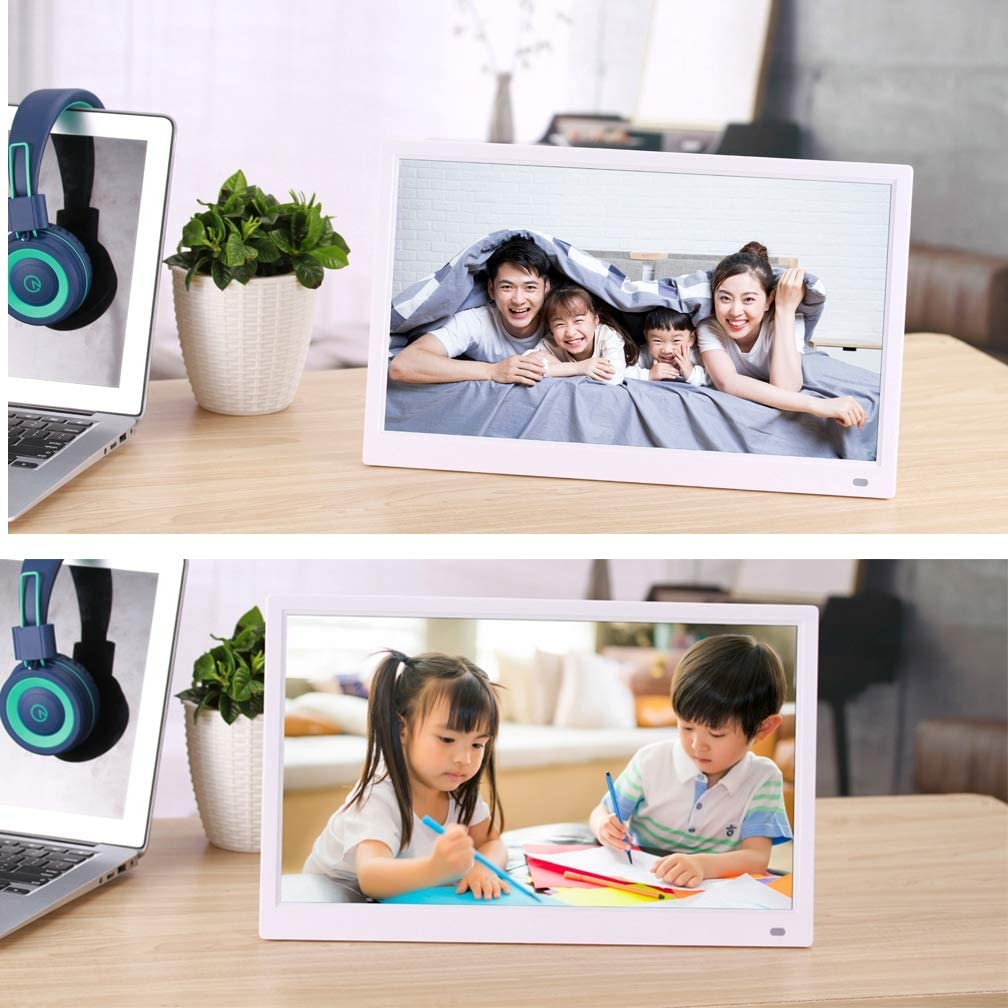 Auto On//Off Timer,Black 1080P HD Video Music Pictures Playback GSPOR 15.6-Inch Digital Photo Frame High Resolution IPS Screen
