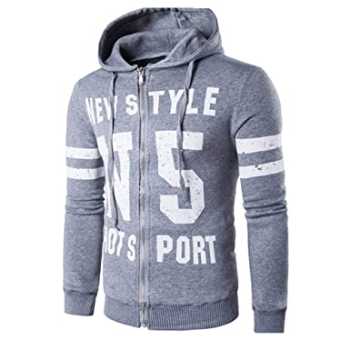 JYJM Herren Pullover Mantel 80% Baumwoll Herren Sweatshirt mit Kapuze  Kapuzenjacke Strickjacket Reißverschluss Sport Cardigan 65e1290b24