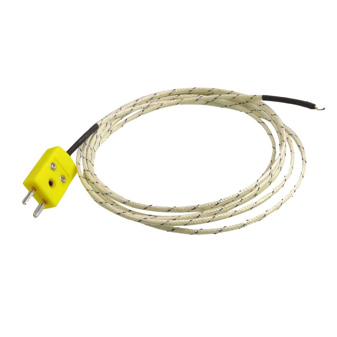 TOOGOO(R) 2M Cable K Type Thermocouple Temperature Measuring Probe Sensor White