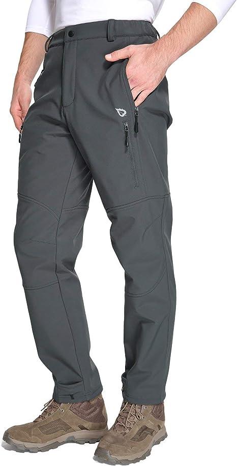 esqu/í pantalones de snowboard para invierno Pantalones de senderismo con forro polar para hombre Wespornow nieve al aire libre impermeable