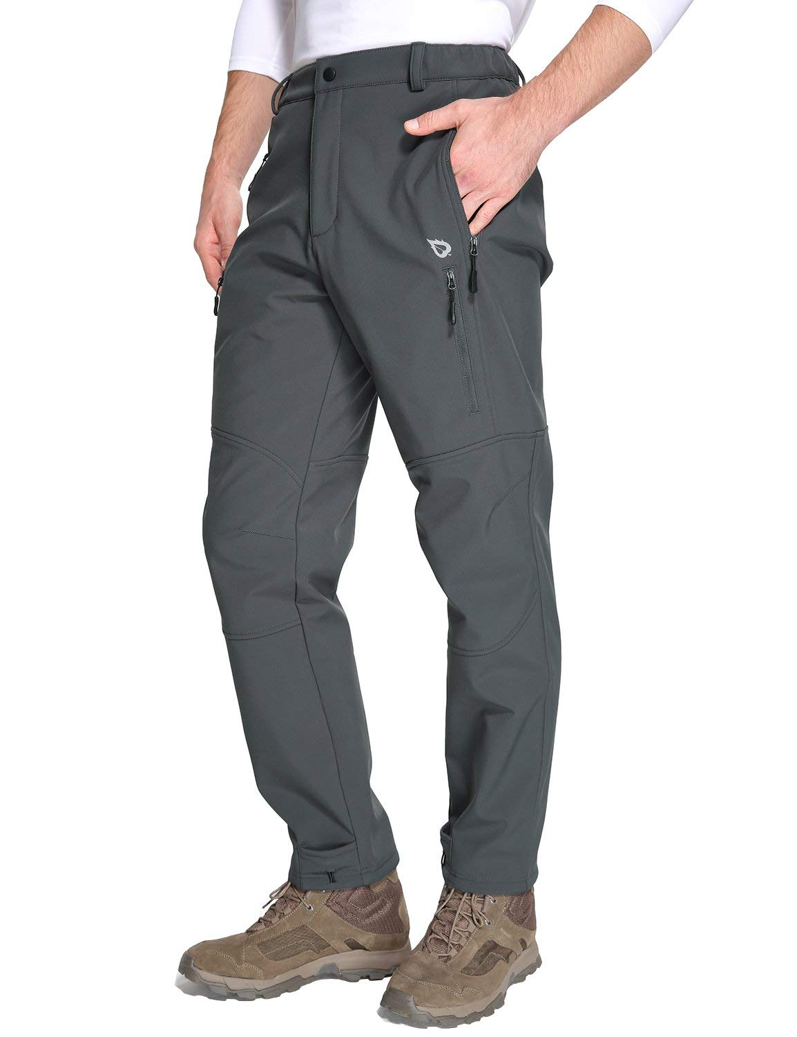 Baleaf Men/'s Winter Hiking Ski Pants Mountain Trousers Fleece-Lined Water-Resistant Windproof Insulated