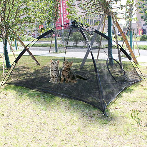 (Hi Suyi Portable Large Pop Up Pet Cat Tents Enclosures for Outside Patio)