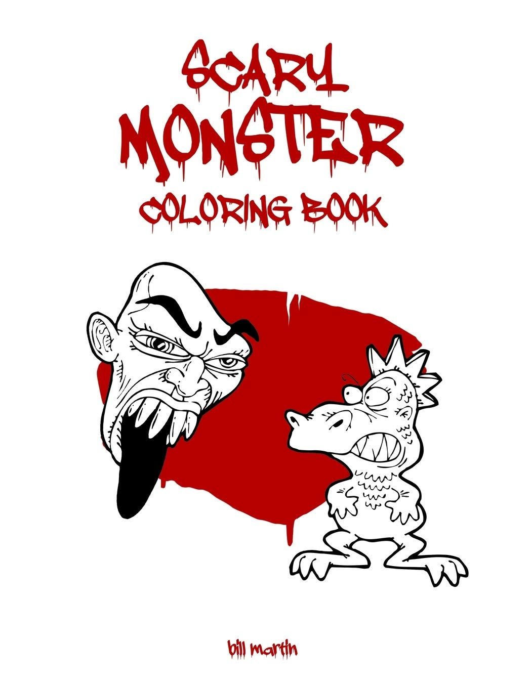 Scary Monster Coloring Book Cute Horror Monsters To Color For Kids And Adults Martin Bill 9798642684795 Amazon Com Books