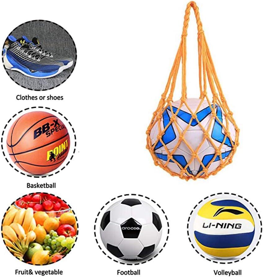 KDFKGULL Filet De Rangement Sac Transporteur pour 1 Ballon De Basket-Ball Football Volly-Ball
