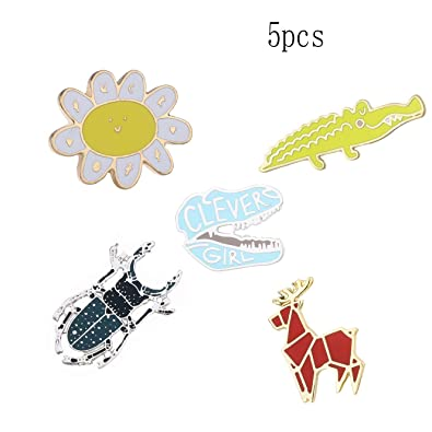 Amazon com: Dinosaur Patch Cartoon Brooch Pin Badges Set for Clothes
