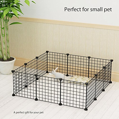KOUSI Small Pets Playpen Metal Indoor Yard Fence for Small Animals ...