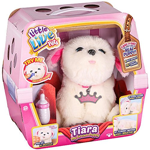 [Little Live Pets Tiara Girl Dog My Dream Puppy Playset] (Snuggles Dog Costume)