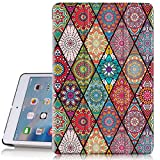 ipad 3 case vintage - iPad mini 2 Case, iPad mini 3 Case, Hocase PU Leather Folio Smart Case w/Unique Flower Design, Auto Sleep/Wake Feature, Microfiber Lining Hard Back Cover for iPad mini 1/2/3 - Mandala Floral