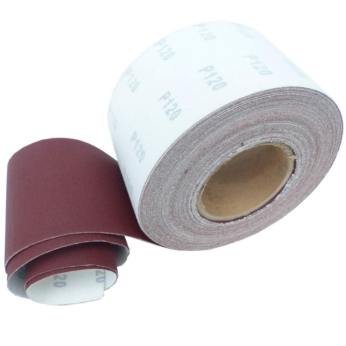 25m KLETT Schleifpapier Rolle 93mm X 25m Korn P180 Schleifband Schleifrolle Rollenschleifpapier BOHRFUX