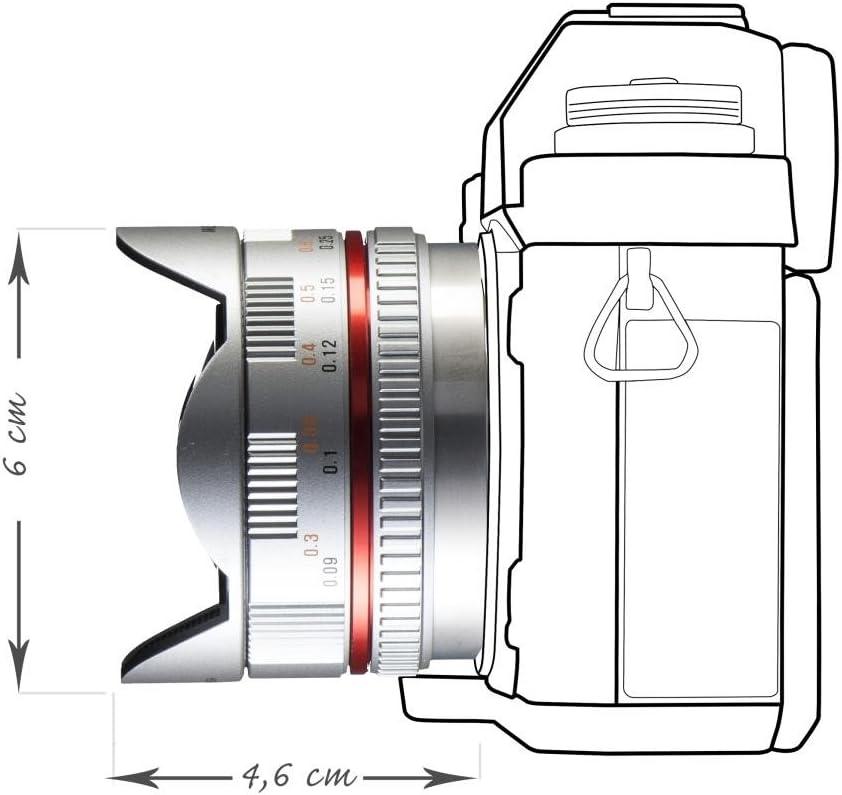 Walimex Pro 7.5 mm 1:3.5 Lente Ojo de Pez para Micro Cuatro ...