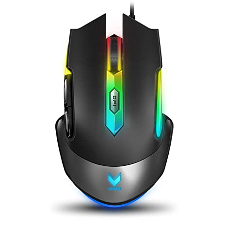 d7c612059e8 RAPOO Optical Gaming Mouse Wired with 16.8 Million RGB Backlight, Ergonomic  Design, 14 Adjustable