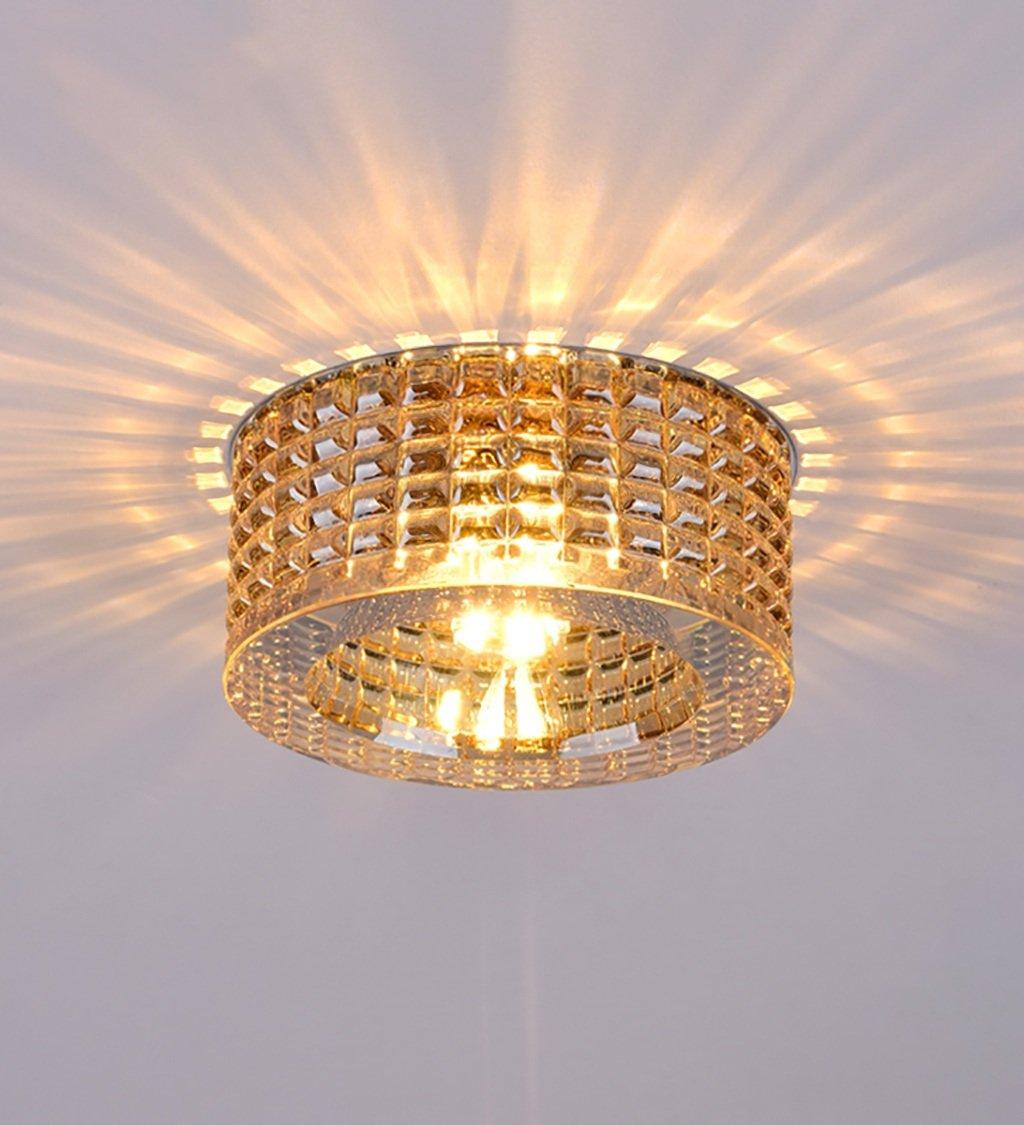 Metallic Midu LED-Kristallbeleuchtung der Eingangsflur Wohnzimmer Balkongang Vier Wochen Deckenleuchte (Farbe   Metallic)