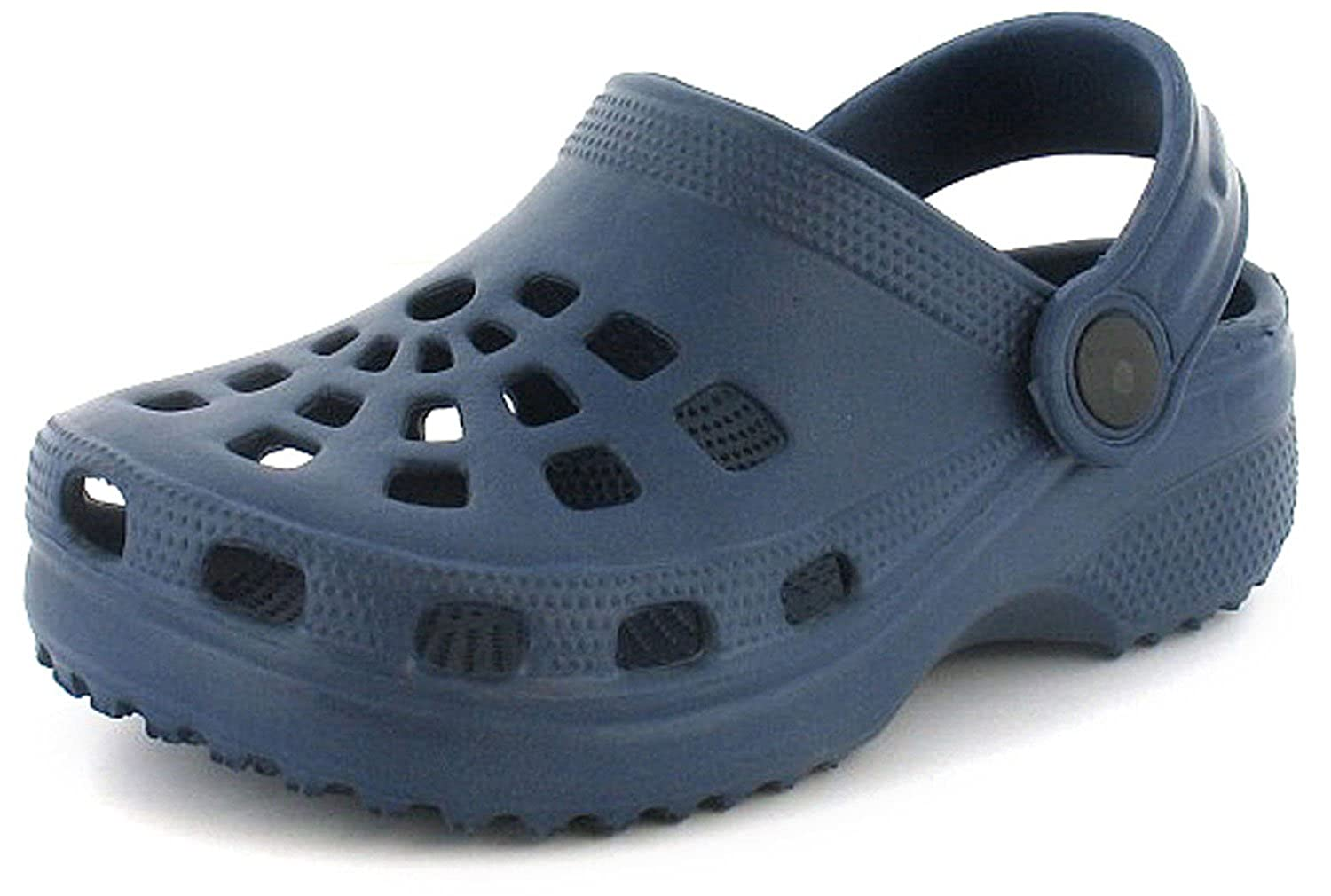 Wynsors New Boys/Childrens Blue Moulded Clog Sandals With Moveable Back Strap - Navy - UK SIZES 4-12