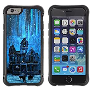 BullDog Case@ House Stars Night Haunted Creepy Blue Rugged Hybrid Armor Slim Protection Case Cover Shell For iPhone 6 Plus CASE Cover ,iphone 6 5.5 case,iPhone 6 Plus cover ,Cases for iPhone 6 Plus 5.5