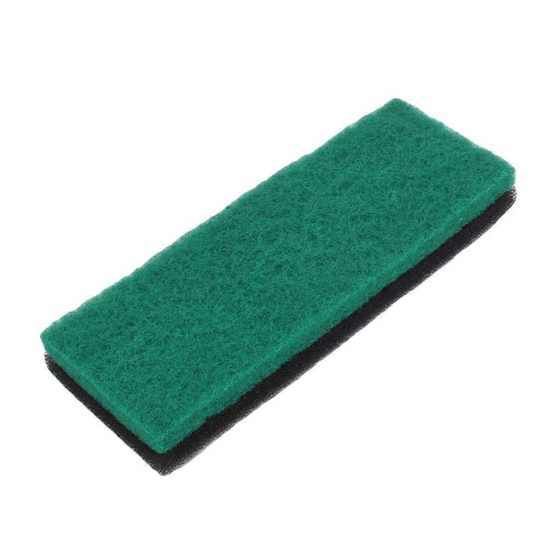 Fish Tank Square Shape Reusable Biochemical Filter Sponge 2 Pcs Black Green