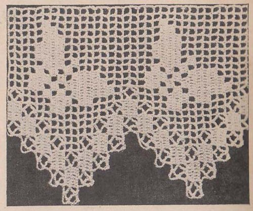 - Butterfly Edging Filet Crochet Pattern