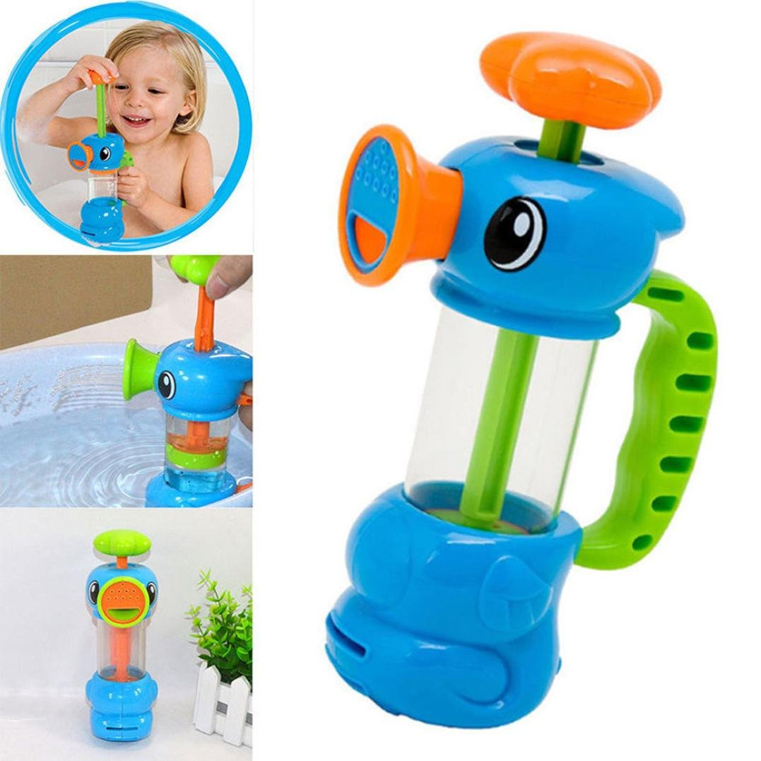 Kingfansion Babys Interesting Bathing Toys Child Baby Kids Bath Shower Swimming Pool Water Toys Duck Design Water Pump Toy
