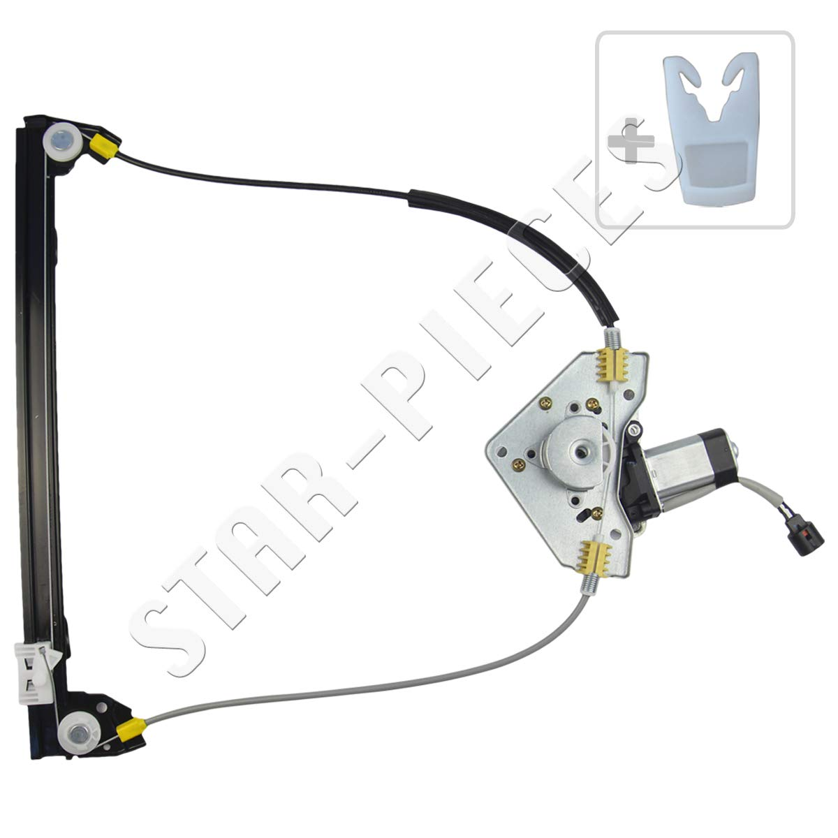 STARKIT PERFORMANCE Mechanismus f/ür Fensterheber vorne Links Fahrer mit Motor f/ür Renault Megane I Coupe 1995 bis 2002