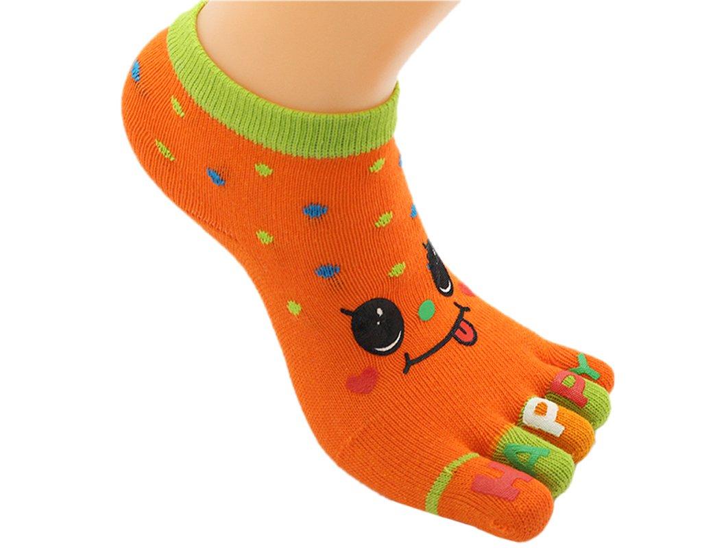 BONAMART ® 1 3 6 Pack Kids Split 5 Toes Crew Toe Socks 3-5 Years Old