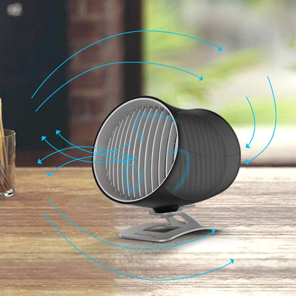 Hfbwjfhgdj Tragbarer zylindrischer kleiner Auto-Ventilator stumm Luftzirkulation Desktop USB wiederaufladbar