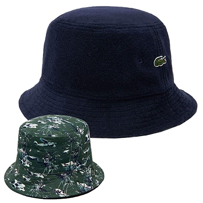 0090a1dd Lacoste Mens Terry Cloth Bucket Hat - Navy Blue/Marine - One Size ...