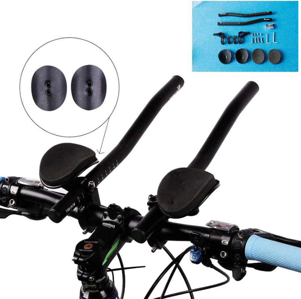 NANANA Triatlón Manillar Bicicleta Resto Ciclismo Aero Bar Triatlón MTB Carretera para Bicicleta de Carretera y Bicicleta de Montaña[Longitud 34Cm] [Diseño Dividido]: Amazon.es: Deportes y aire libre