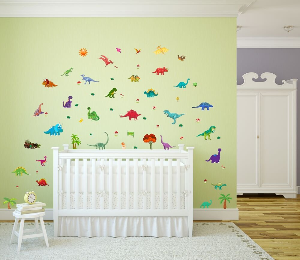 Amazon.com: Dinosaur Wall Decals, Decorative Dino Stickers for Boys ...
