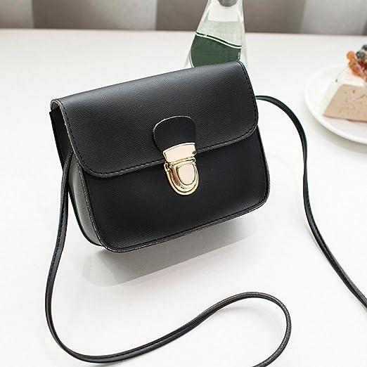 Amazon.com: FDelinK Women Girls PU Leather Fashion Vintage Cover Lock Cross Body Messenger Shoulder Bag (Black): Clothing