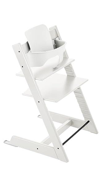 Amazon.com : Stokke Tripp Trapp Baby Set, White : Childrens Chair ...