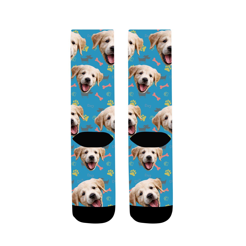 Calcetines Divertidos para Hombres y Mujers Mornex Calcetines Personalizados con Fotos Cara del Perro Unisex Personalizables Calcetines