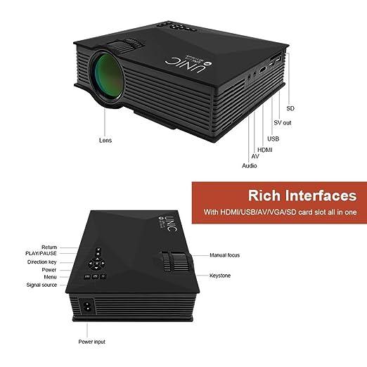 Proyector de video WiFi,UC46 HD Proyector 1080P Duplicacion de ...