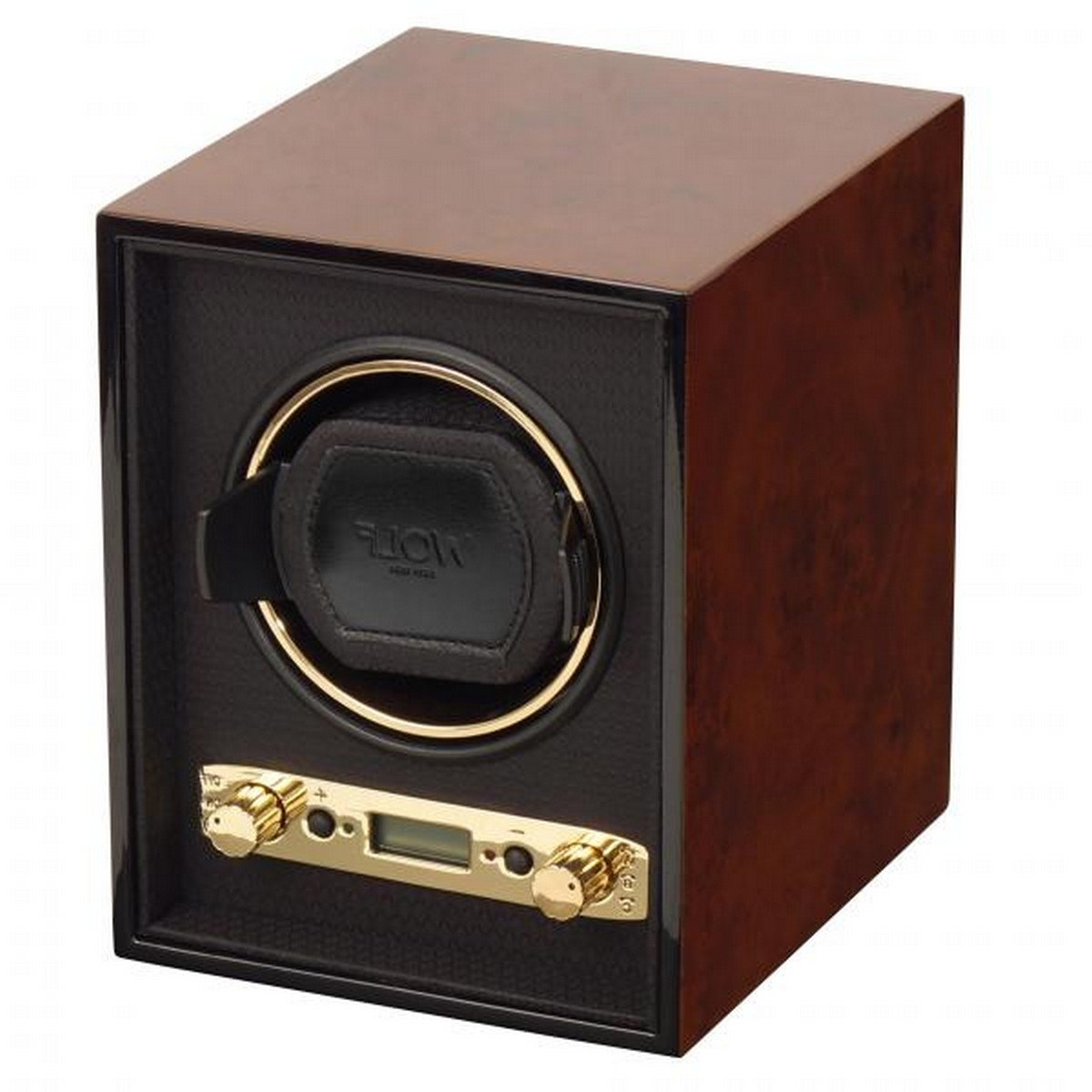 Men's Single Watch Winder Box Wood Veneer with 57 Winding Programs for Home or Travel in 3 Colors