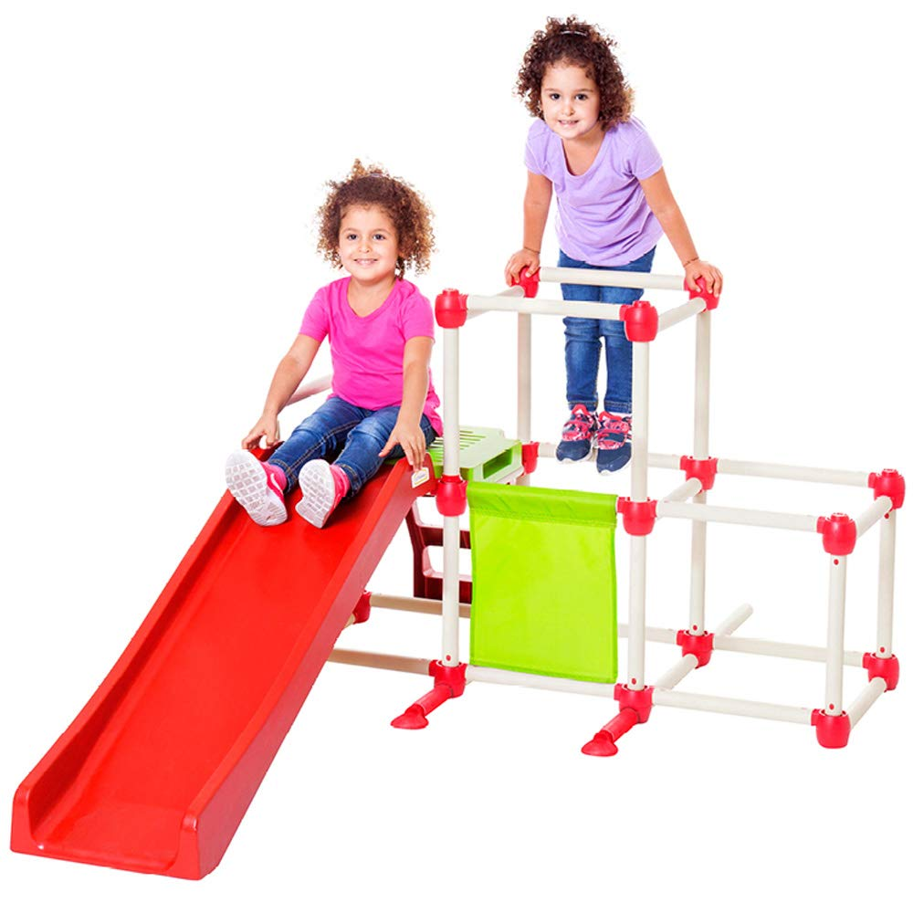 Lil' Monkey Olympus Jungle Gym, Toddler Climber Playground - Folds Within Less than One Minute - Indoor and Outdoor Play Equipment For Kids by Lil' Monkey