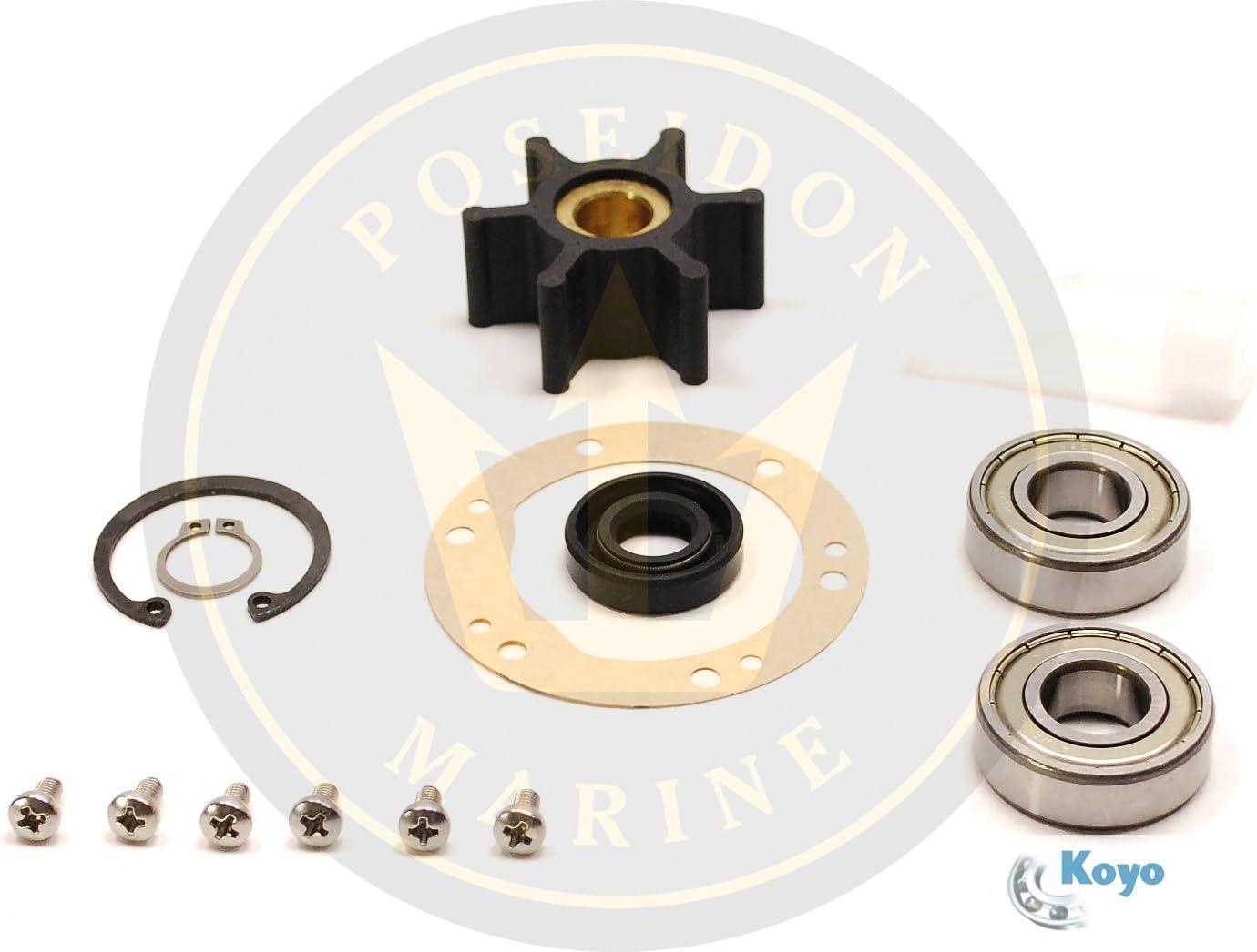 Sea Water Pump Repair Kit for Yanmar Marine 2GMF 2GM20F 3GMF 3GM30F 3GM30FVE