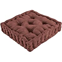 Trenton Gifts Tufted Support Seat Cushion for Living Room Furniture/Patio Chairs (Chocolate)
