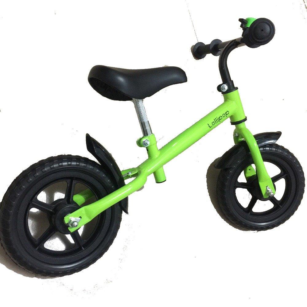 12inchストライダー子供バランス自転車、カーボンホイール、スチールフレーム、レッド、ブルー、黄色、ピンク、グリーン B07CNWDDSF グリーン グリーン