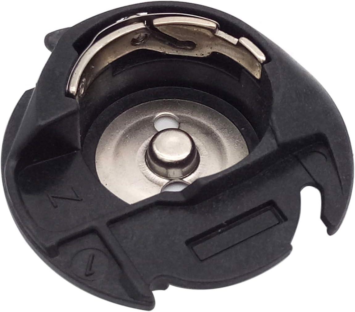 CKPSMS Marca - # 86132 Estuche de bobina 1 piezas # 51045 Ajuste para SINGER Futura CE100 CE150 CE200 CE250 JUKI HZL-27Z, 29Z