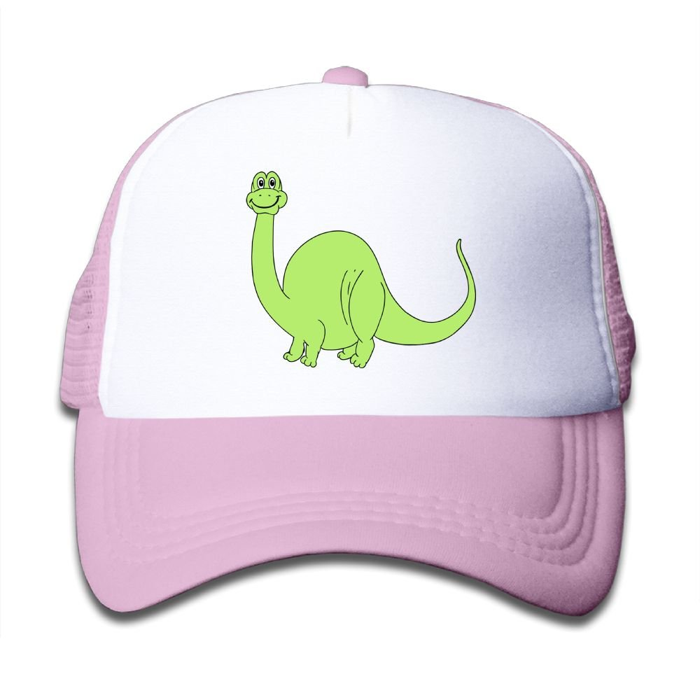 Qiop Nee Pink Mesh Baseball Caps Adjustable Toddler Hat Cute Green Dinosaur Unisex