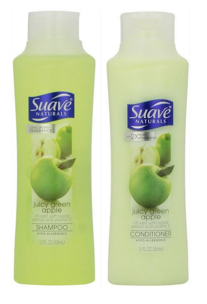 Suave Naturals Shampoo & Conditioner Set, Juicy Green Apple, 12 Ounce Each by Suave