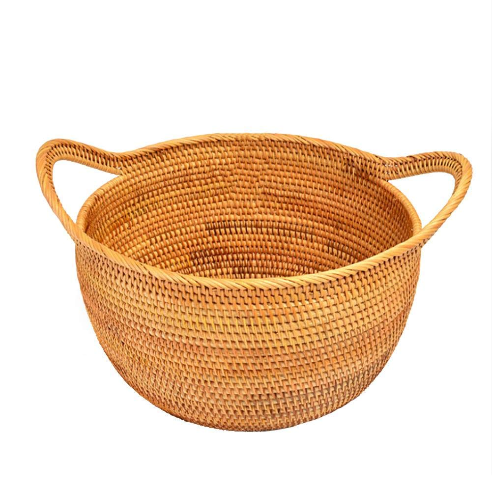Large Seagrass Woven Wicker Basket with Arched Handles, Rustic Natural Brown Finish, as Coastal Decorative Accent or Storage, Hand Made, Bodhi, Bread Snack Fruit Bowl Remote Control Storage Basket Fine-day