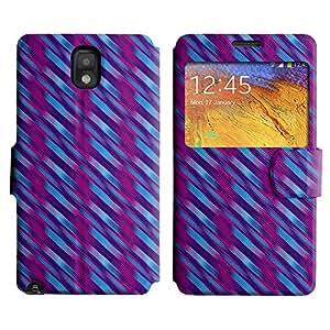 LEOCASE línea diagonal Funda Carcasa Cuero Tapa Case Para Samsung Galaxy Note 3 N9000 No.1005091