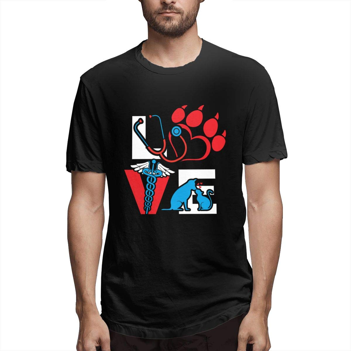 Veterinarian Love Cat And Dog Veterinary S Short Sleeve Tshirts