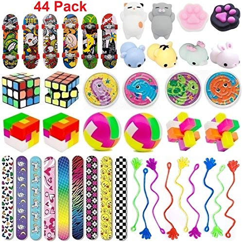 44 Pc Party Favor Toy Assortment for Kids Party Favor, Birthday Party, School Classroom Rewards, Carnival Prizes, Pinata Fillers, Treasure Chest, Prize Box Toys, Goody Bag Fillers (Treasure Box Child)