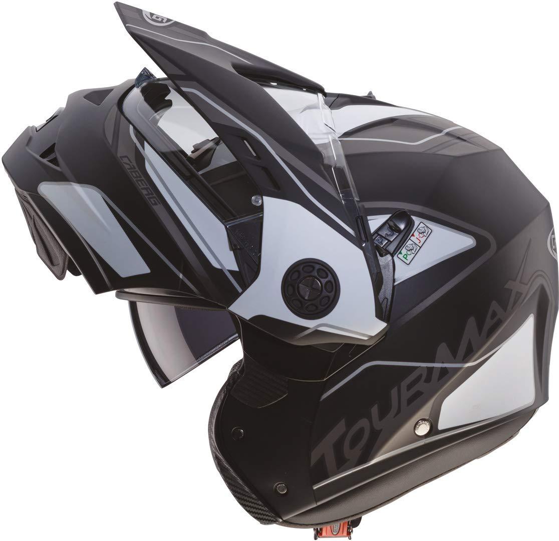 Caberg Casque Tourmax Noir Mat//Blanc//Anthracite Taille L